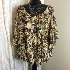 Dress barn blouse 14/16 W
